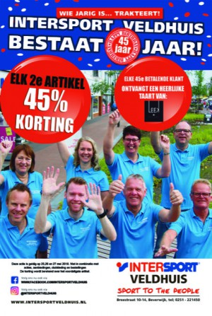 Intersport Veldhuis 45 jaar